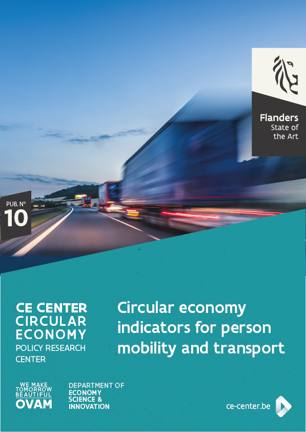Circular economy indicators for person mobility and transport